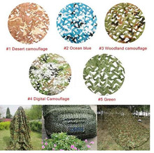 Купить с кэшбэком Loogu 9 colors  4M*6M camouflage netting camo net for forest pretend exposure hunting military training outdoor shade car covers