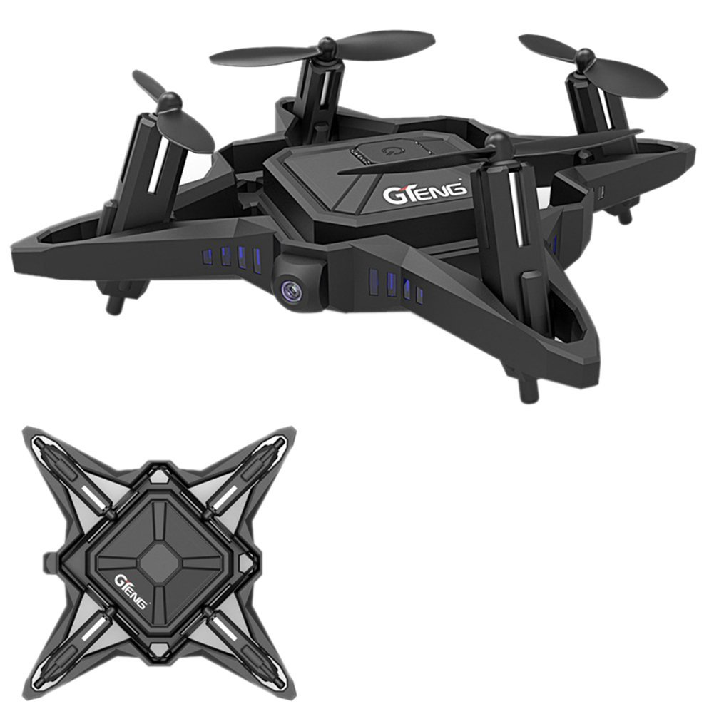 GTENG T911W 2.4GHz 4CH Foldable Drone Wifi FPV RC Drone with HD Camera RC Quadcopter Altitude Hold Gravity Sensor Headless Mode gteng t908w diy wifi fpv 0 3mp pixels altitude hold rc quadcopter rtf 2 4ghz