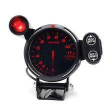 CNSPEED 80mm samochód wyścigowy Rpm obrotomierz ze światłem ostrzegawczym Auto licznik samochodowy/miernik samochodowy/czarny obrotomierz twarzy xs101146