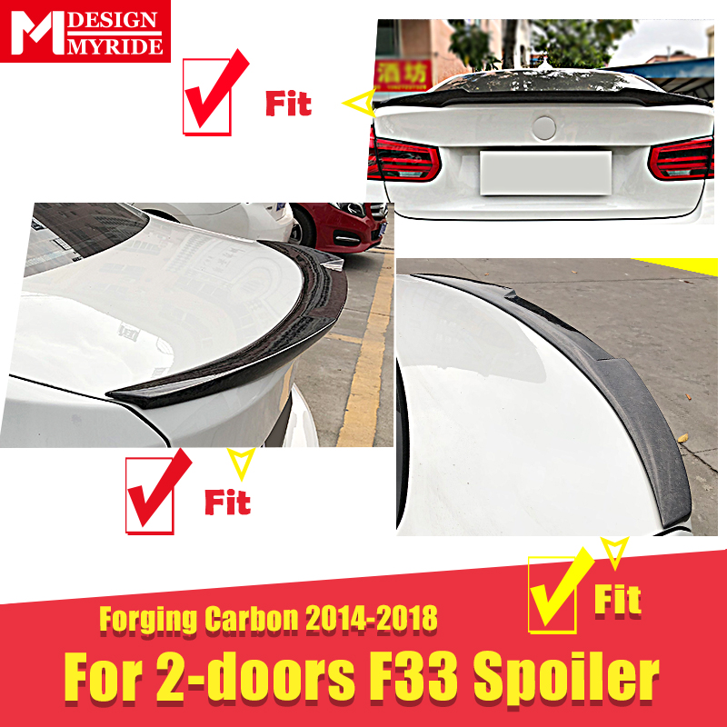 For BMW 4 series F33 2 door Convertible Rear trunk Spoiler Wing AEM4 Style Forging Carbon 420i 430i 430iGC Rear Tail Wing 14 18 in Spoilers Wings from Automobiles Motorcycles