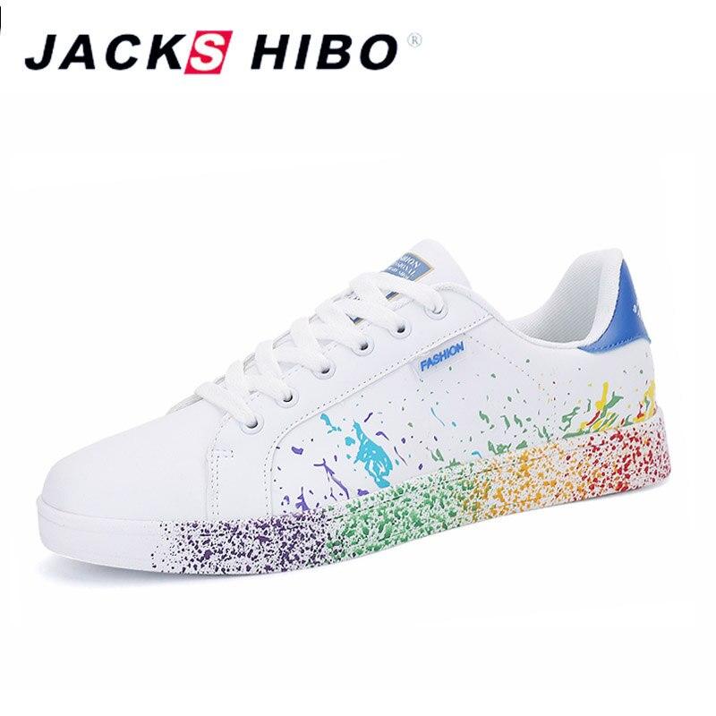 JACKSHIBO אופנה גרפיטי נשים של נעליים יומיומיות גדול גודל עיצוב נקבה סניקרס נשים פופולרי הנעלה נעלי Chaussure Femme