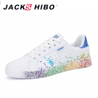 JACKSHIBO Fashion Graffiti Women's Casual Shoes Big Size Design Female Sneakers Women Popular Footwear Shoes Chaussure Femme