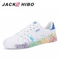 JACKSHIBO Fashion Graffiti Women's Casual Shoes Big Size Design Female Sneakers Women Popular Footwear Shoes Chaussure Femme