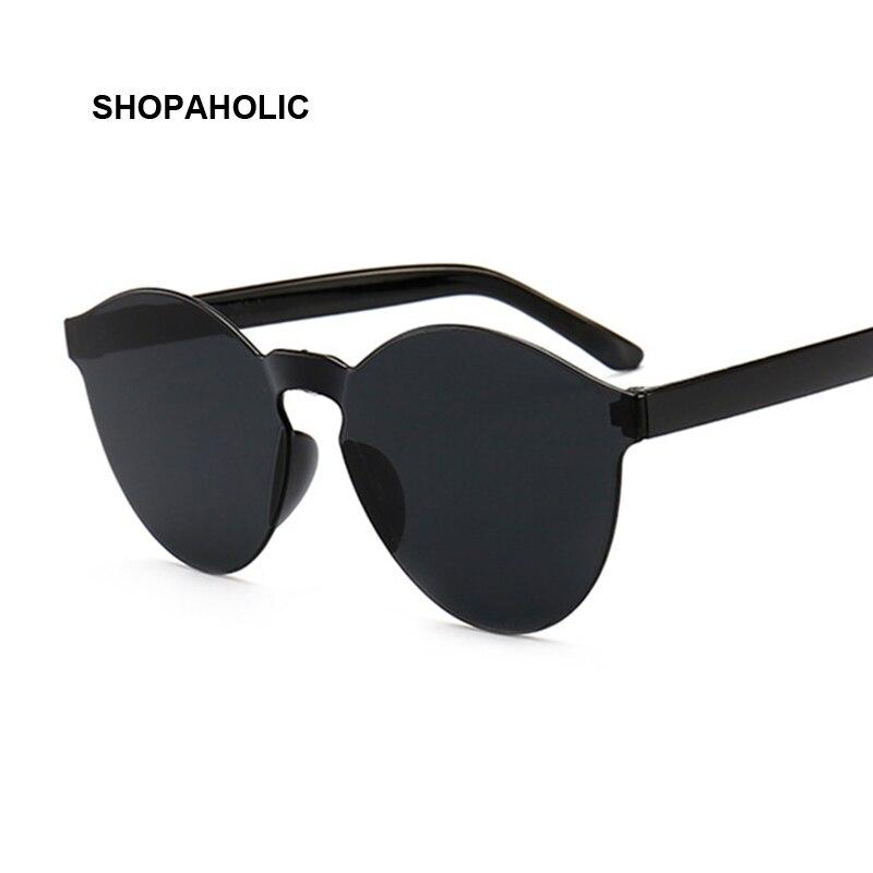 New One Piece Love Heart Lens Sunglasses Women Transparent Plastic Glasses Style Sun Glasses Female Clear Candy Color Designer