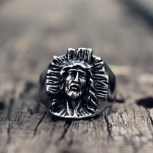 Son of God 316L Stainless Steel Ring Vintage Catholic Christian Jesus Cross Rings Men Jewelry Gift for Him стоимость