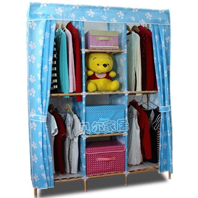 Nueva gran armario doble simple tela armario combinación armario ...