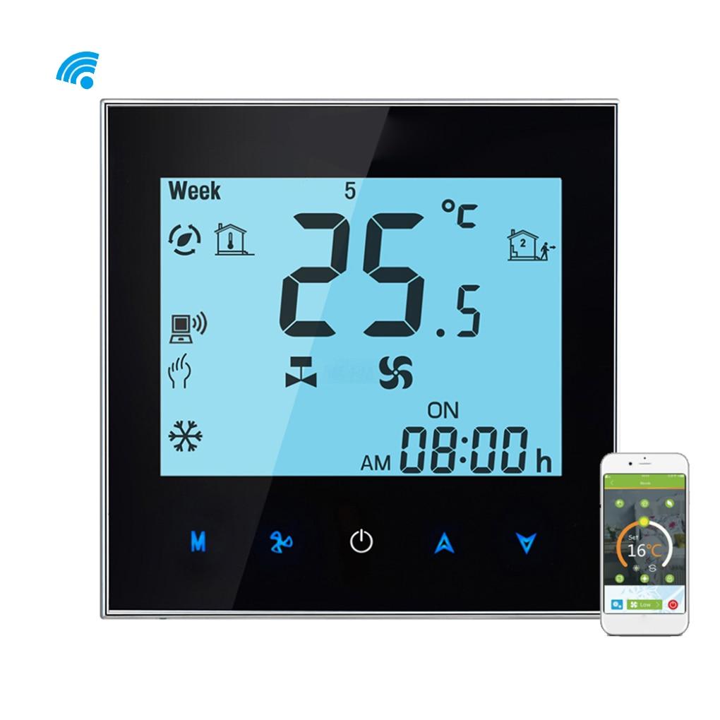 Remote Control Central APP Air Conditioner Temperature Controller 4 Pipe Thermostat Cooling Heating Backlight картридж t2 ic hf6v19a 123xl black черный для hp deskjet 1110 envy 4520 officejet 3830 3831 3832 3833 3834 3835 4650 4651 4652 4654 4655 4657 4