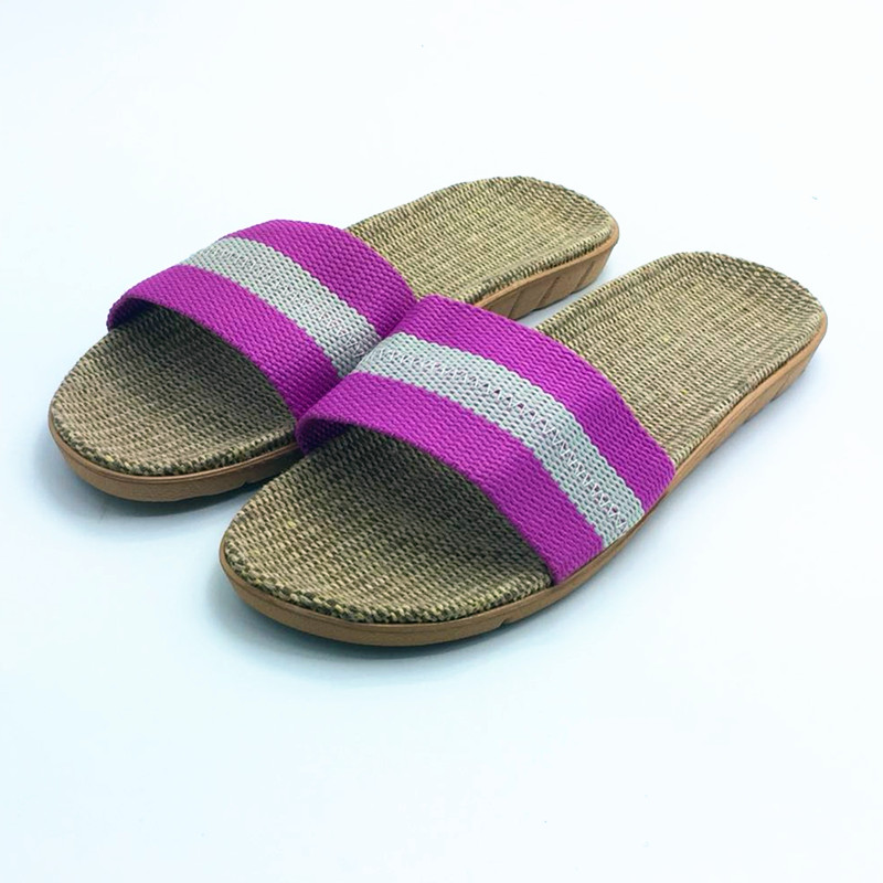 Zomerlinnen Slippers Ademend Comfortabel Thuis Slippers Slide - Damesschoenen - Foto 4
