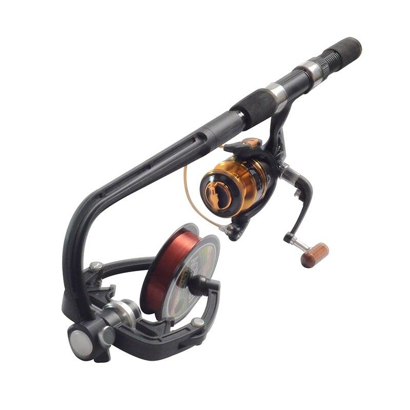 BLLBOO Fishing Line Spooler Clamp Type Fishing Line Spooler with Suction Cup Winder Spool Spooling Tool Tackle