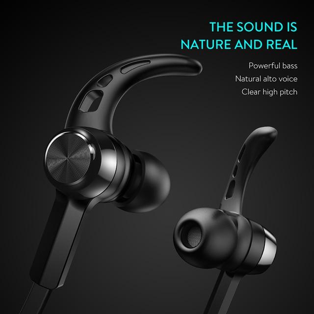 For iPhone Xiaomi Neckband sport running  Magnetic Bluetooth Earphone Wireless headphone