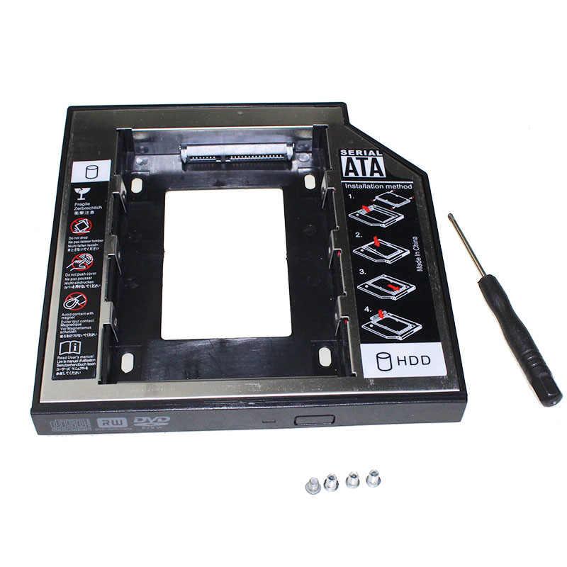 """New Original 2nd HDD Caddy 12.7mm 2.5 """"SATA 3.0 SSD Case Disque Dur Boîtier + Indicateur LED pour Ordinateur Portable CD-ROM"""