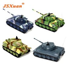 JSXuan brand new TIGER RC Battle Tank 14CH 1:72 Scale Remote Control Simulated Panzer Mini Tank Children Toys Gift(China)