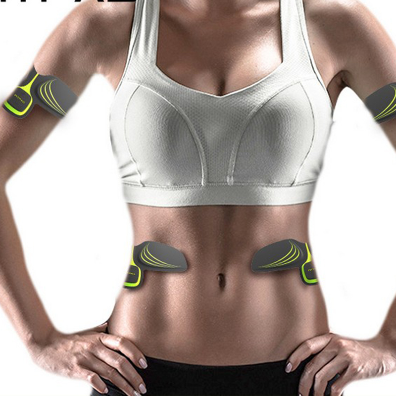 Smart EMS Electronic Abdominal <font><b>Muscles</b></font> Trainer Set Abdominal Arm Intensive Stimulator Body Slimming Massager Fitness Accessories