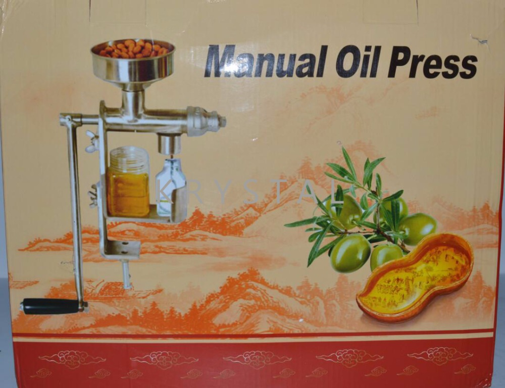Manual Oil Press Machine Household Oil Extractor Peanut Nuts Seeds Oil Press Expeller HY-03