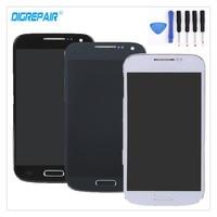 Noir/Blanc/Bleu Pour Samsung Galaxy S4 Mini i9195 i9190 9195 9190 LCD Affichage à L'écran Tactile Digitizer Assemblée + cadre + Outils De Réparation