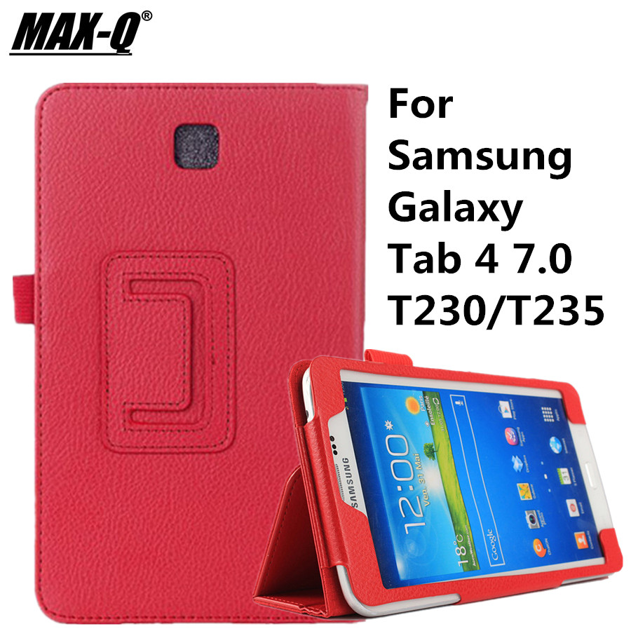 Folding SmartTab4 T230 Case PU Leather Stand Flip Case Cover for Samsung Galaxy Tab 4 7.0 T230 T231 T235 чехол для планшета 0asis samsung tab4 t230 t230 7 for galaxy tab 4 t230