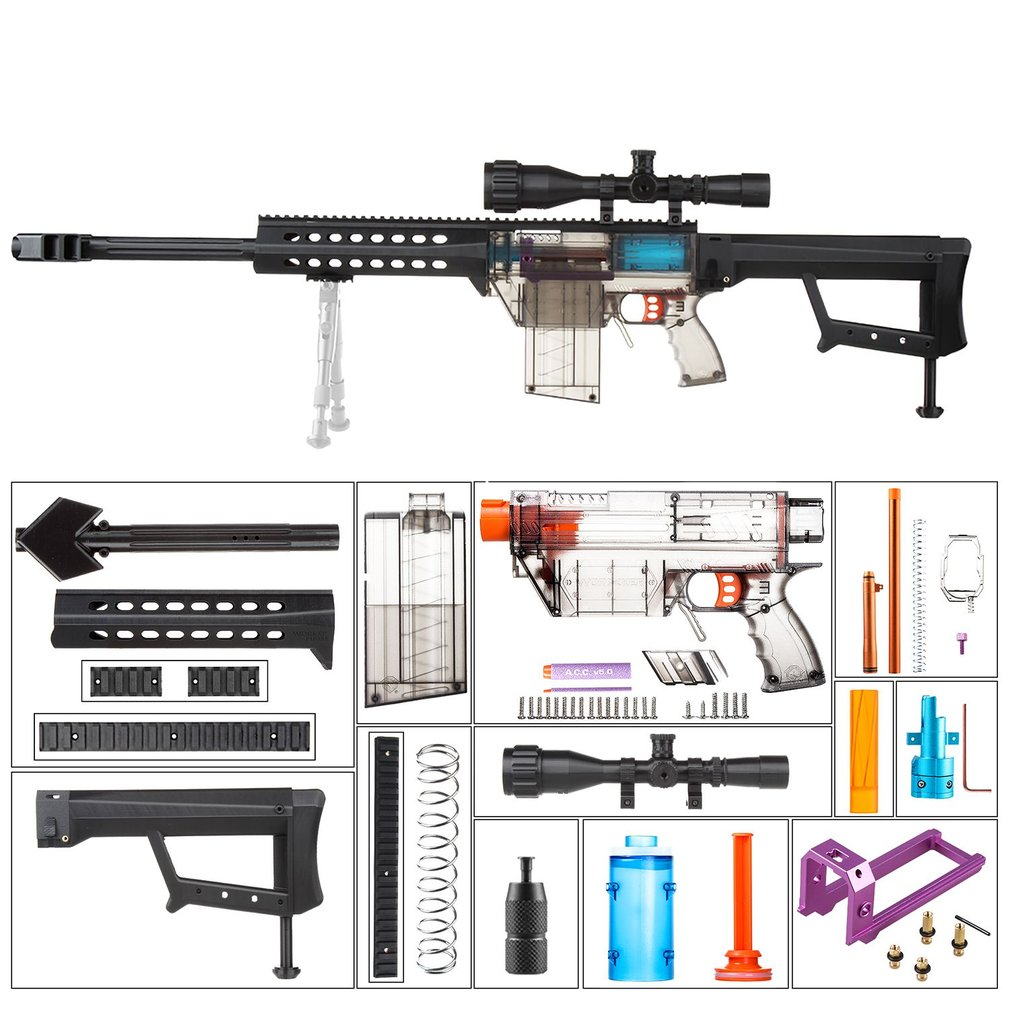 WORKER Fully Auto Kit DIY Toy Gun Accessories for Nerf Stryfe Modified Set YYR 001 024 Toy Gun Accessories Xmas Gift for Kids