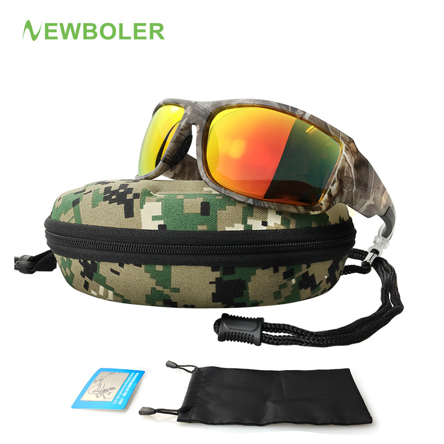 NEWBOLER Camouflage Polarized Fishing Glasses Men Women Cycling Hiking Driving Sunglasses Outdoor Sport Eyewear De Sol Camo