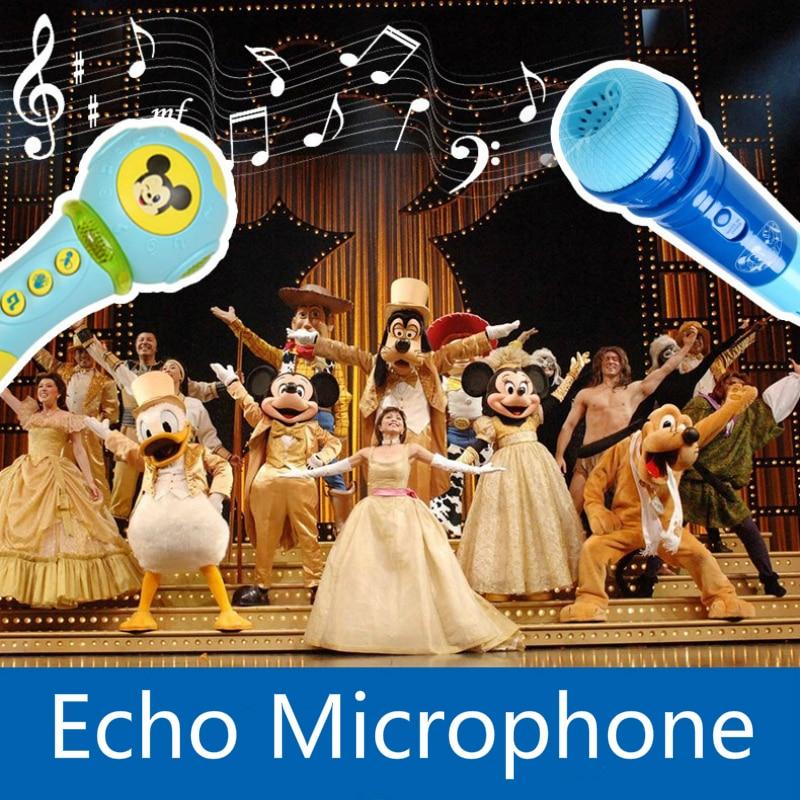 Genuine Mickey Donald Duck Series Child Echo Microphone Wireless Microphone Music Amplification Ktv Singer Karaoke Charging Toy