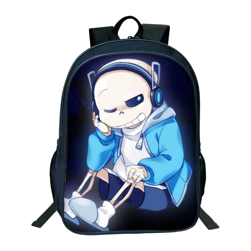 2018 Hot Sale 3D Printing Backpacks Undertale Cartoon Character Bags Cute Children School Bags For Girls Boys Book Bag Kids Bags