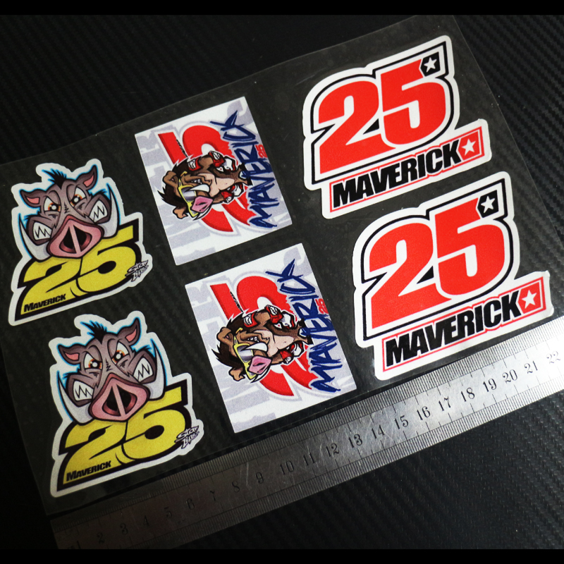 AVERICK VINALES NO25 Boar porcupine 6pcs Reflective stickers decals