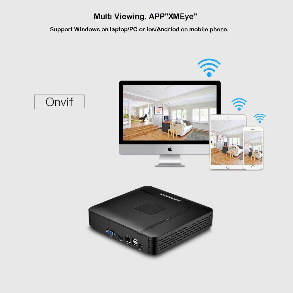 Image 5 - AZISHN H.265 CCTV NVR 16CH 5MP/8CH 4MP безопасности видео рекордер Макс 5MP обнаружения движения ONVIF P2P HDMI VGA FTP XMEye CCTV NVR-in Видеорегистратор для видеонаблюдения from Безопасность и защита