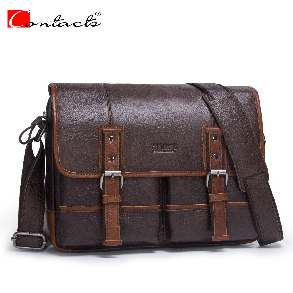 CONTACT S New Arrival Genuine Leather Men S Business Shoulder Bags Men S Messenger Bags Casual