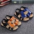 Новый Бренд Дети Мальчиков Сандалии, обувь Для Детей, ЕВА Сандалии Мальчиков Сандалии, дышащий Ботинок квартир, летние Удобную Обувь