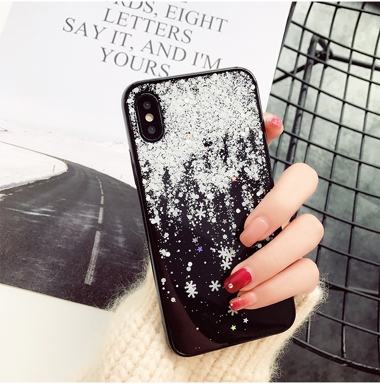 Cell Phone - Snow Flower Soft Silicone Case For iPhone X XR Xs Max  7 8 6 6s Plus