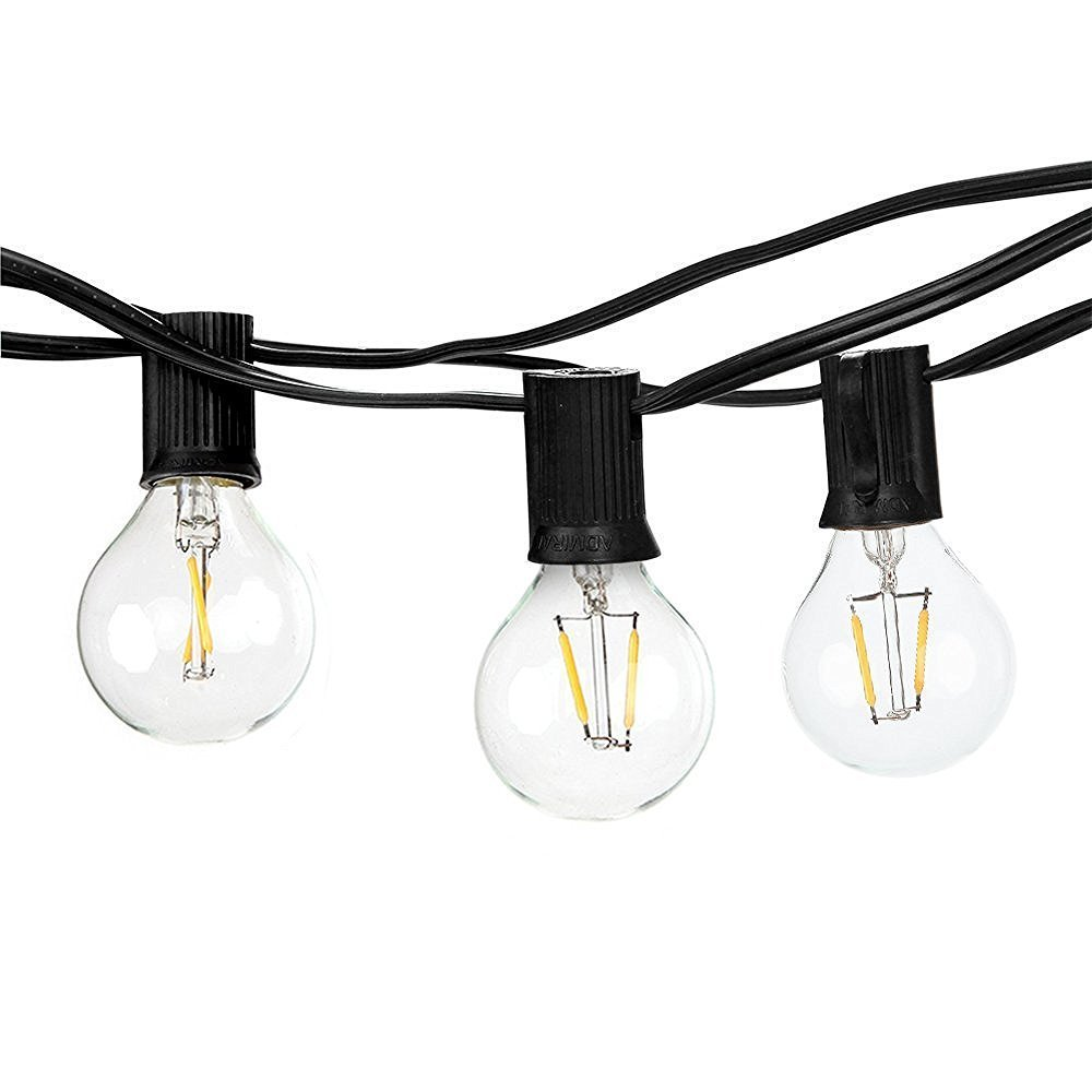 Outdoor Weatherproof Wedding/Party Garden String Lights G40 12 LED Light Bulbs String Light 26ft Warm White LED Cafe Style Lighs