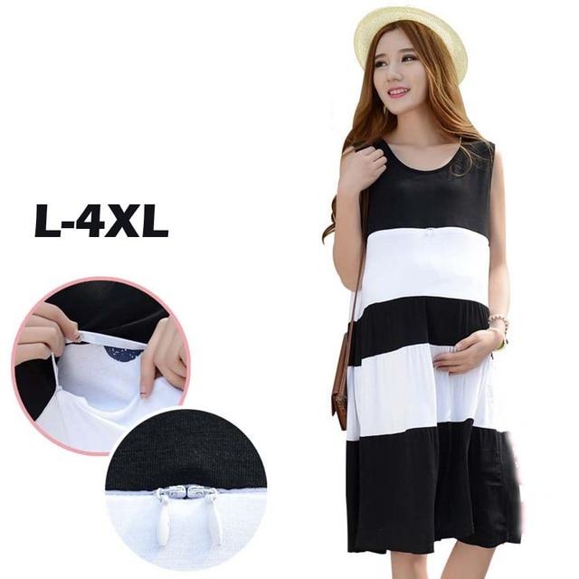 674ee50db7 Korean Maternity Clothes Plus Size Pregnant Women Clothing Long Pregnancy  Dresses Maternity Nursing Breastfeeding Clothes L-4XL