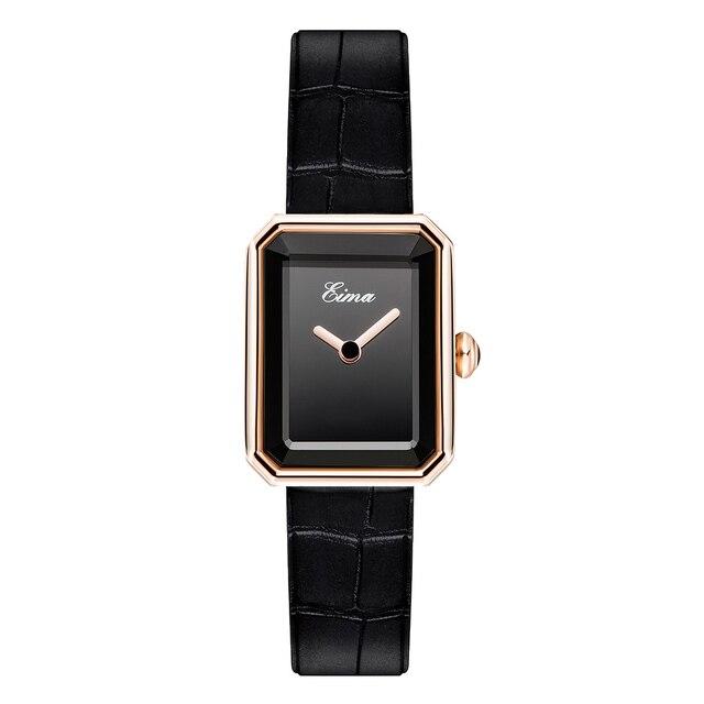 EIMA Top Luxury Women Leather Strap Quartz Wristwatch Fashion Casual Lady Watches Feminino Relojes