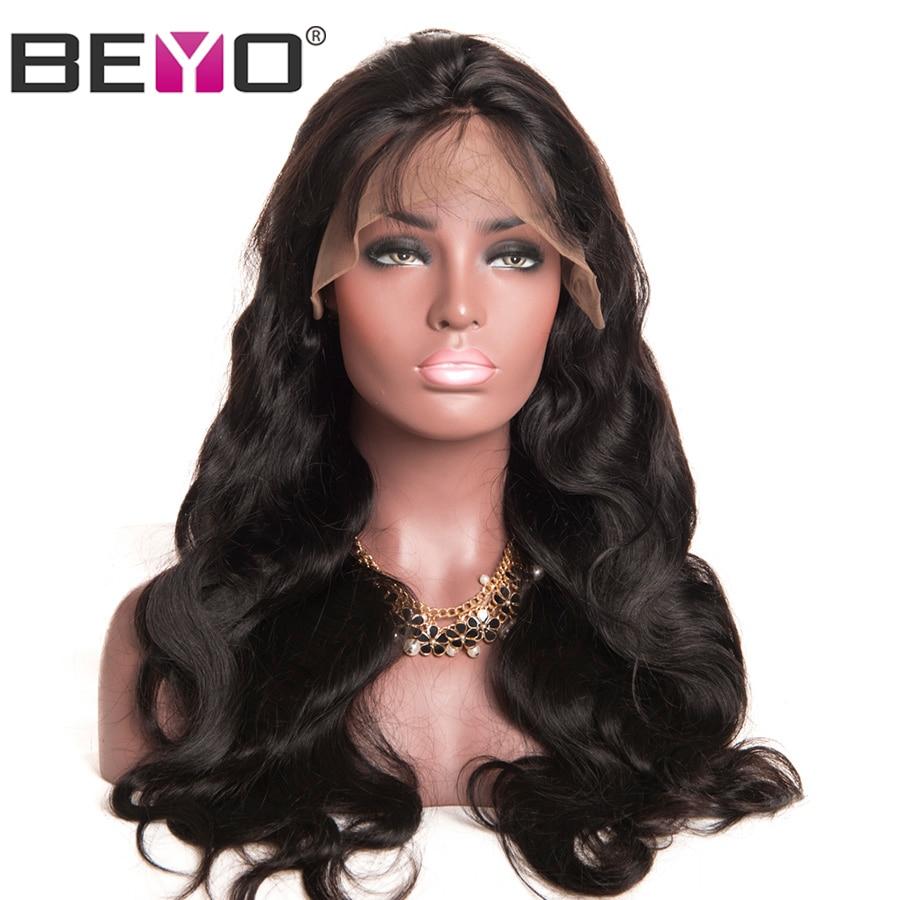 Beyo Glueless Lace Front font b Human b font font b Hair b font Wigs With