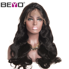 Beyo Glueless Lace Front Human Hair Wigs With Baby Hair Body Wave Lace Wigs Brazilian Hair Wigs For Black Women Non-Remy Hair