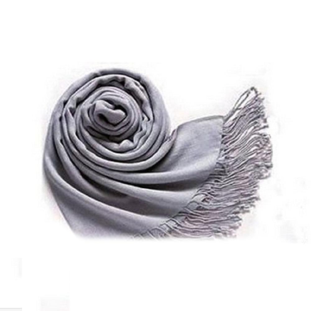ᗔSaf-invierno mujer trendy WRAP bufanda de moda de lana mezcla ...