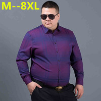 PLUS 10XL 8XL 6XL 5XL 2018 Spring Autumn Features Shirts Men Casual Shirt New Arrival Long