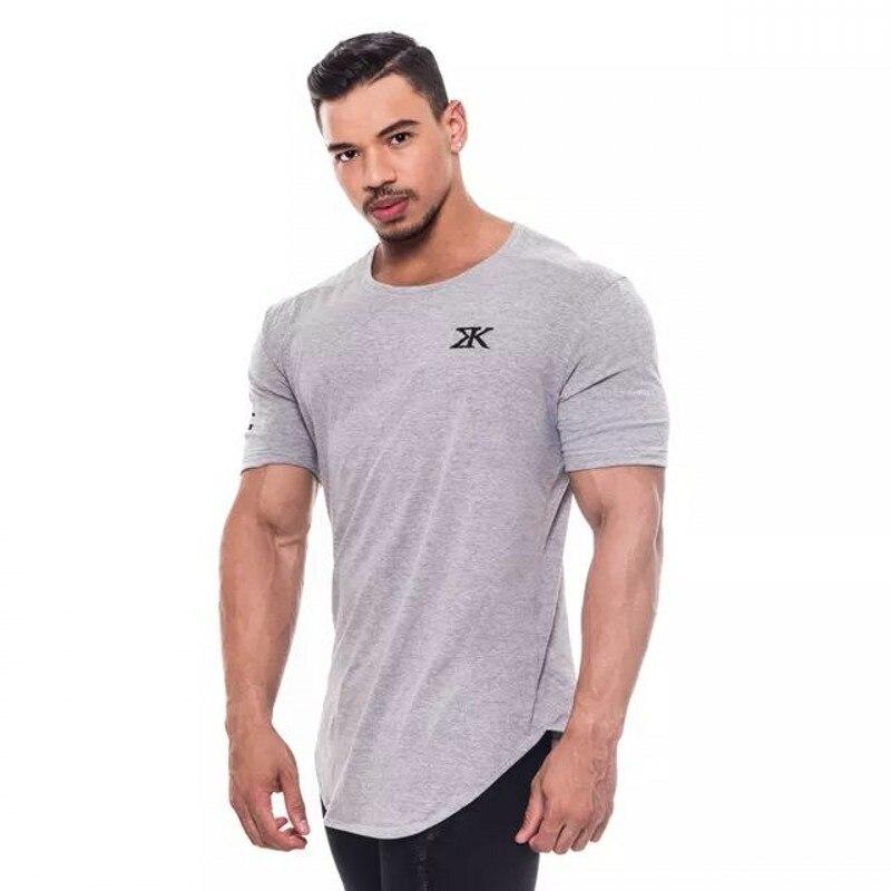 Compre Mens Verão Roupas De Marca Moda Fitness Camiseta Crossfit ... 27526623e45