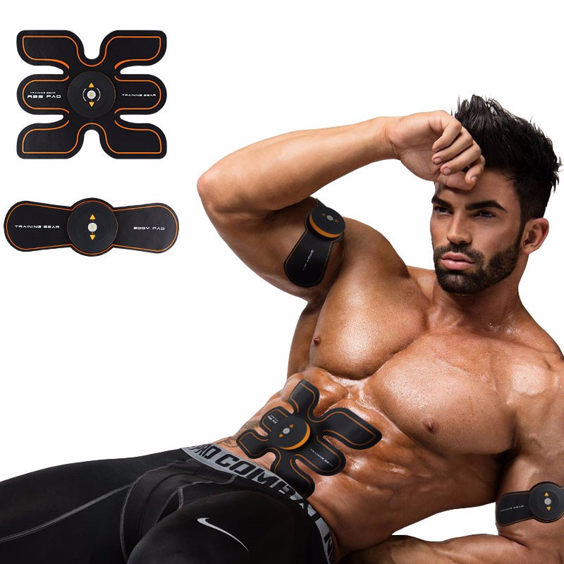 Rechargeable Battery Gym Electronic Body Muscle Arm Waist Abdominal Exerciser Muscle Massaging Machine Viberating Slim Belt (1)_