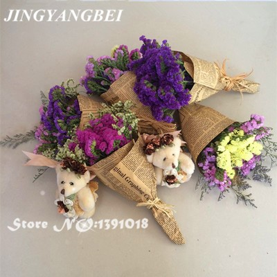 Natural Dried flower Multicolor Myosotis sylvatica bouquet Preserved ...