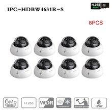 Ahua безопасности IP камера IPC-HDBW4631R-S 8 шт./лот Обновление от IPC-HDBW4431R-S 6MP POE слот для карты SD видеонаблюдения IK10