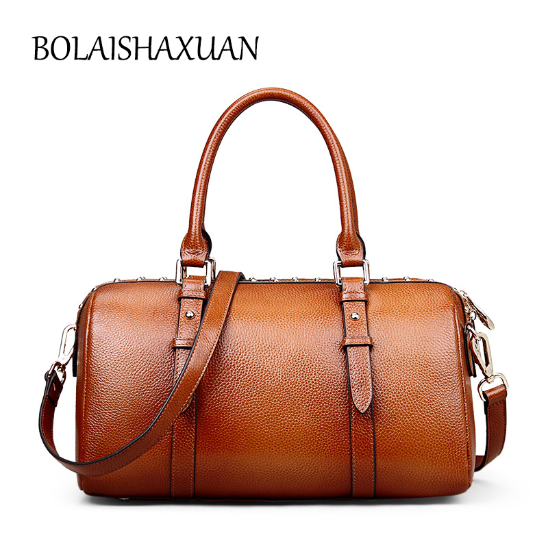 2017 New Genuine Leather Luxury Handbags Women Bags Designer Crossbody Bag Female Shoulder Sac a Main Femme High Quality Handbag women leather handbags vintage shoulder bag female casual tote bags high quality lady designer handbags sac a main crossbody bag