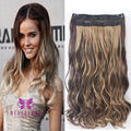Synthetic Clip In Hair Extensions 5 Clips Hairpiece Curly Wavy 22inch 55cm Fashion Mix Color Free Shipping B10