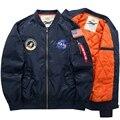 Мужчины Армия Армия куртки плюс размер 6XL Марка 2016 MA1 Горячая стоимость верхняя одежда вышивка мужские куртки для aeronautica militare