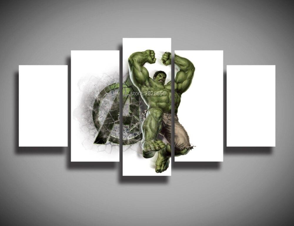 injured green giant wall poster for living room pollen art spray painting mordern canvas schilderij multi