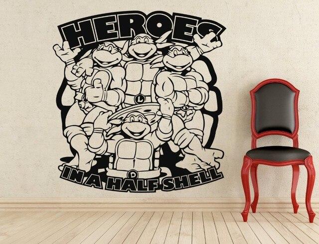 edfc59085 Teenage Mutant Ninja Turtles Comics Art cartoon characters Wall Decal  Sticker home decoration Waterproof wall stickers#024