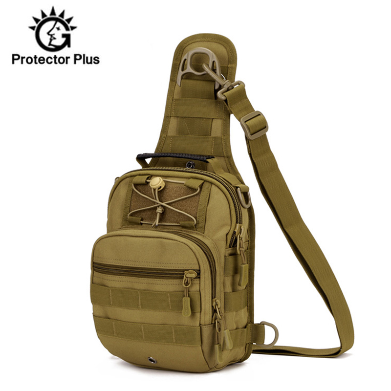 7 Color 600D Outdoor Sports Shoulder Military Camping Hiking Tactical Bag Camping Hunting Backpack Utility Chest Bag XA917WD