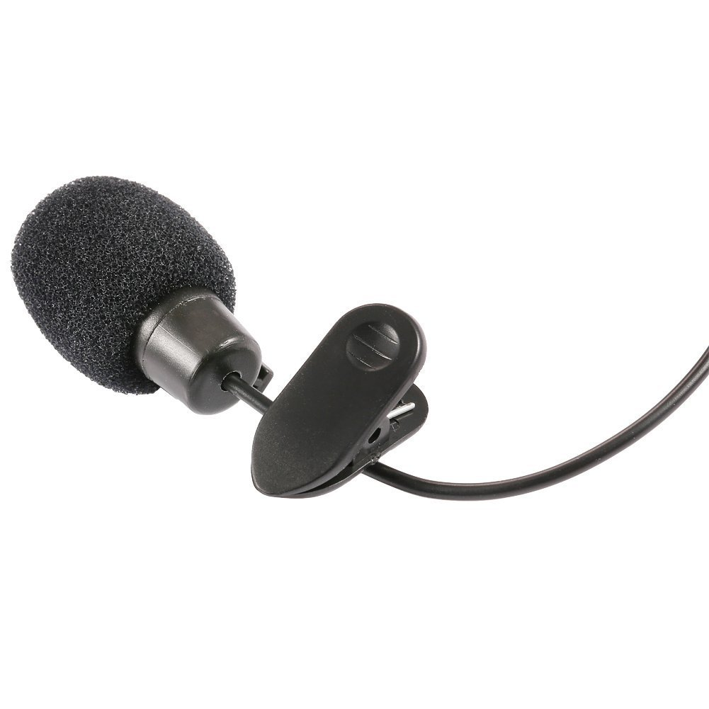 SOSW-3.5mm Hands Free Computer Clip On Mini Lapel Microphone