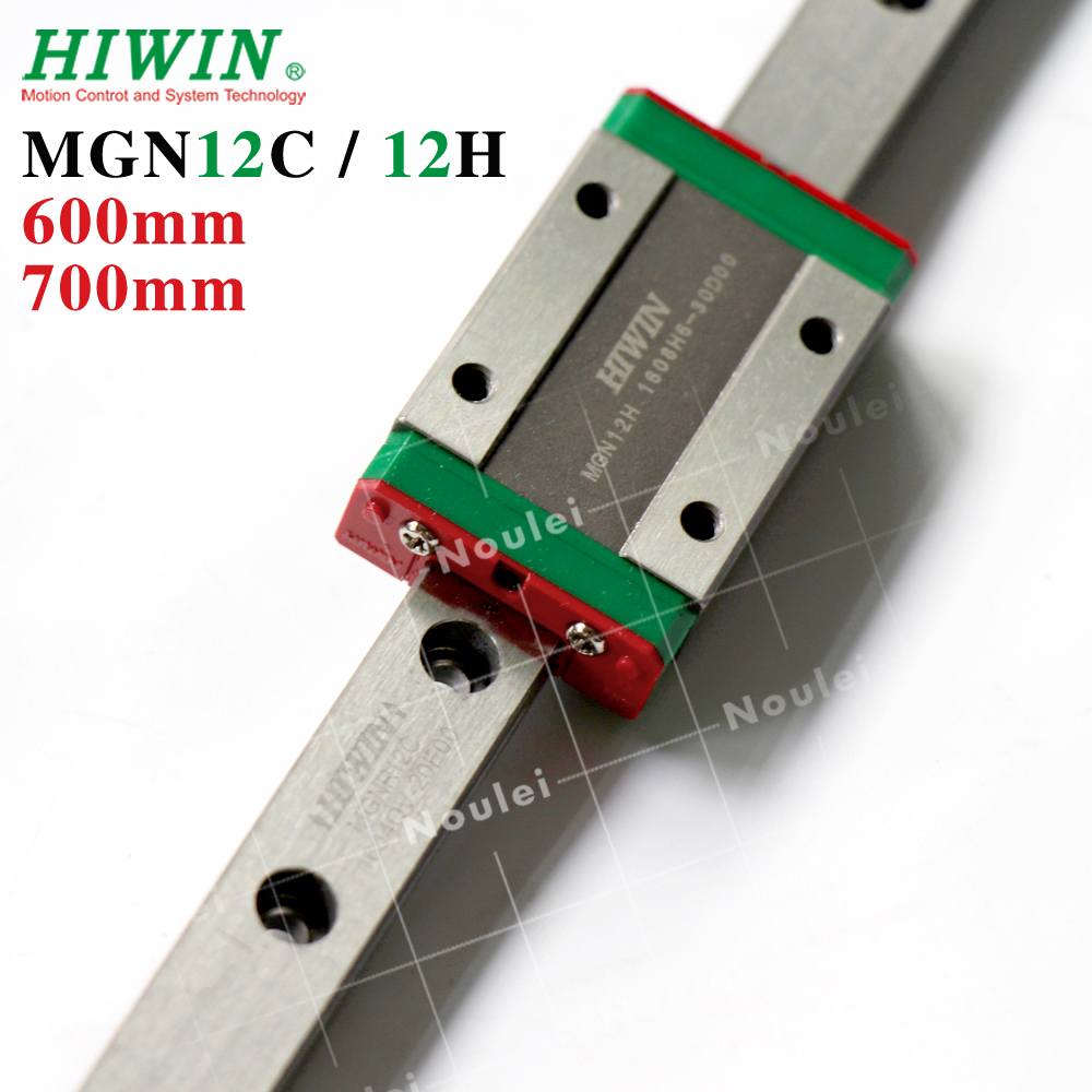 HIWIN MGN 12 Linear Guideways 600mm 650m 700mm MGN12 with MGN-12H 12mm Guide Rail Carriage MGN12H MGN12C for CNC kitHIWIN MGN 12 Linear Guideways 600mm 650m 700mm MGN12 with MGN-12H 12mm Guide Rail Carriage MGN12H MGN12C for CNC kit