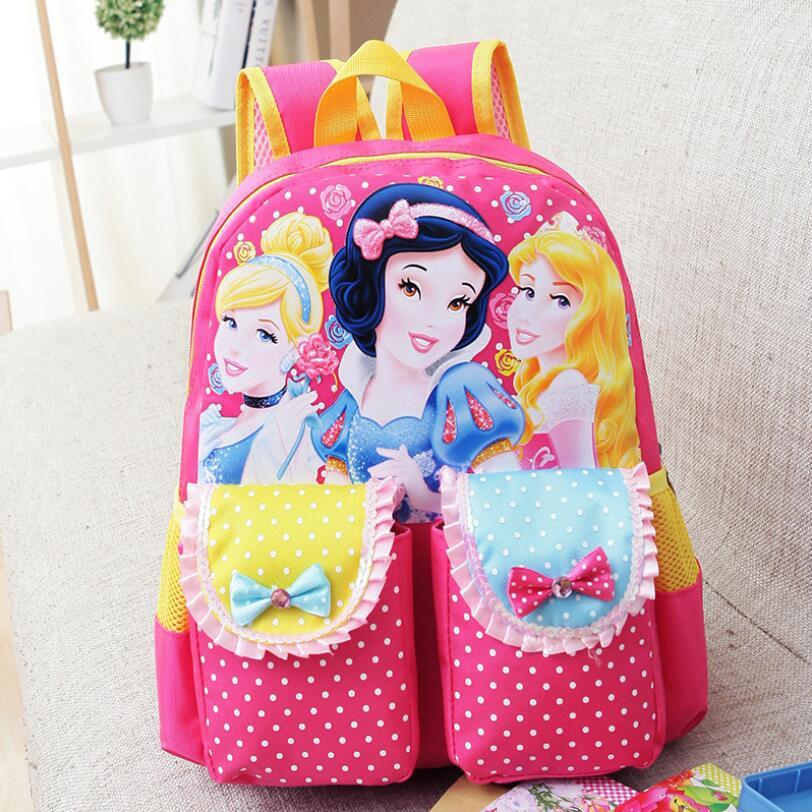 Cartoon Mickey Children School Bags For Girls Boy 2016 Kids Backpack Child Book Bag Minnie Princess Schoolbags