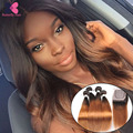 Mocha Hair Products Ombre Straight Hair Bundles And Silk Base Closure 10A Ombre Blonde Hair With Closure tissage bresilienne